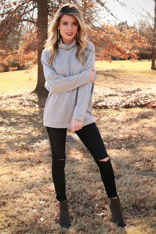 Cozy Feelings Sweater in Grey