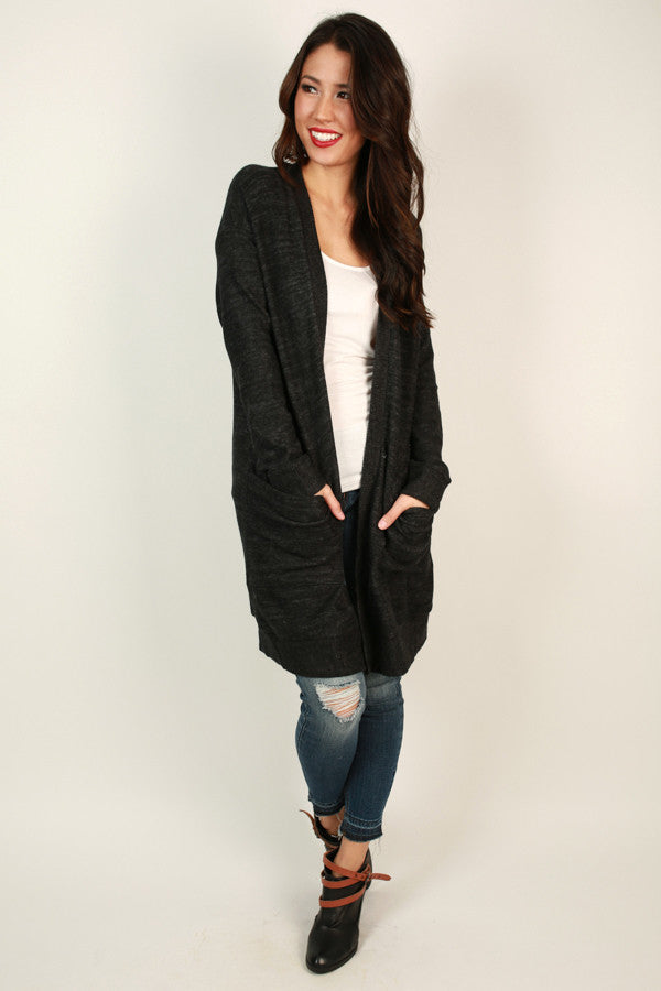 Big City Life Cardigan in Black