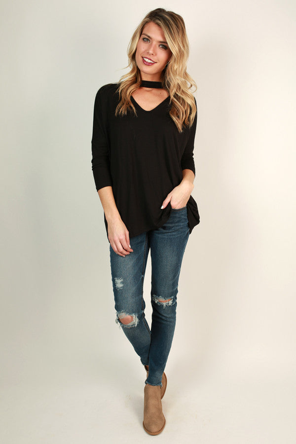 Gonna Love You Cut Out Top in Black