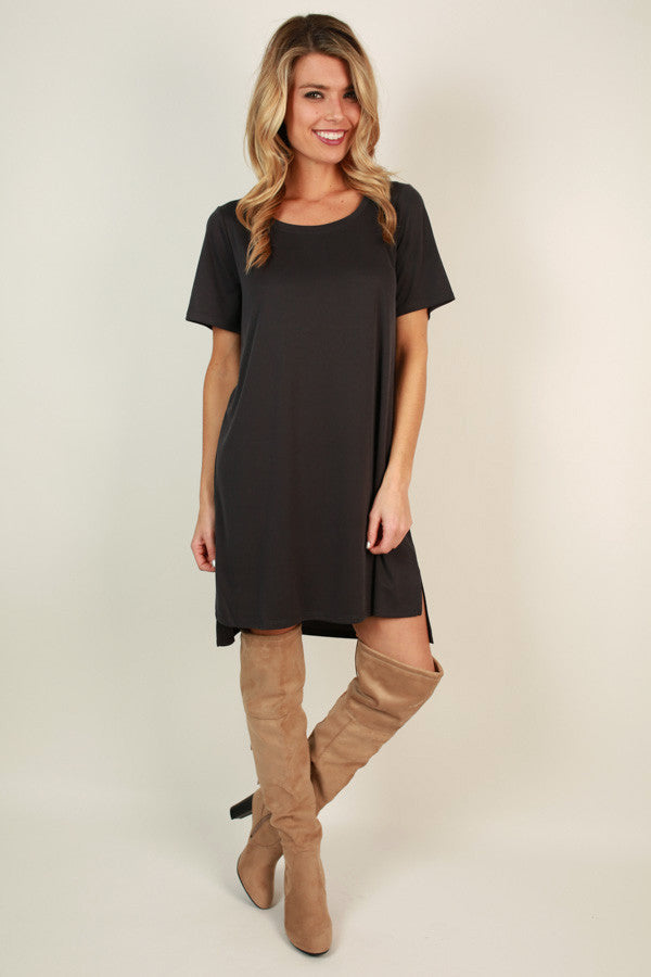 Tunic dress in black impressions online women s clothing boutique