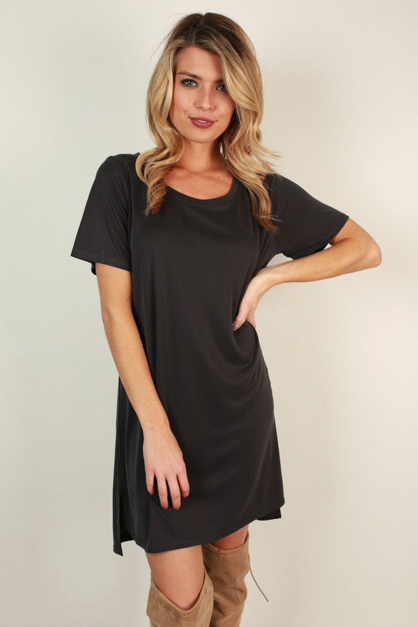 Favorite Everyday Tunic Dress in Black