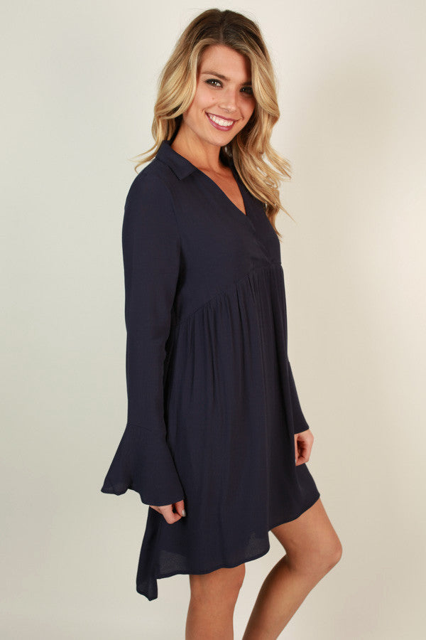 Love Always Babydoll Mini in Navy
