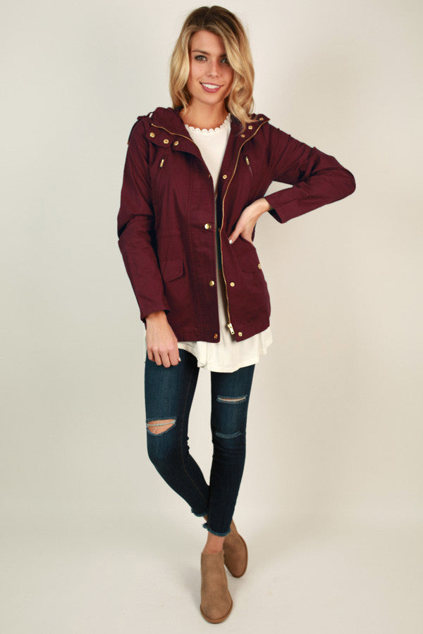 Cape Cod Crush Jacket in Wine
