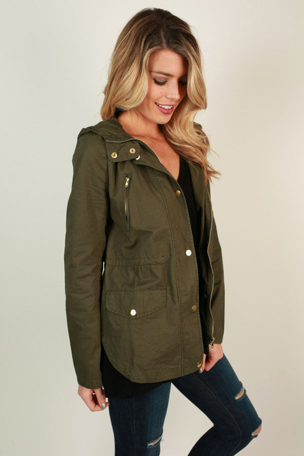 Cape Cod Crush Jacket in Olive