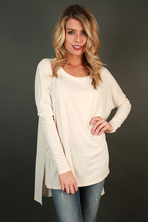 Whisk Me Away Beauty Tunic Top in Cream