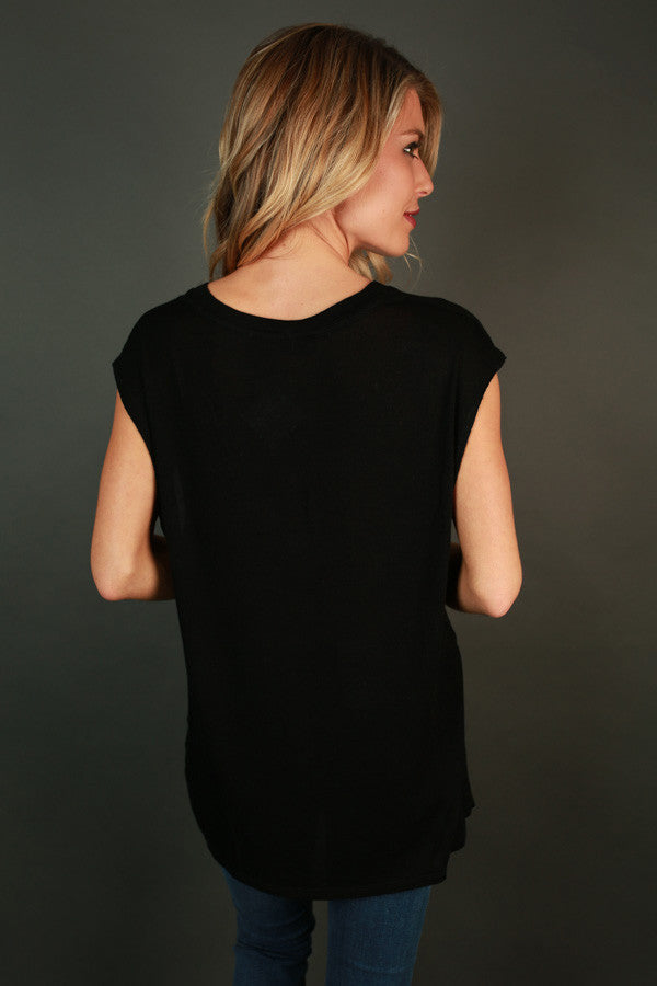 Cozy Sunday Tee in Black