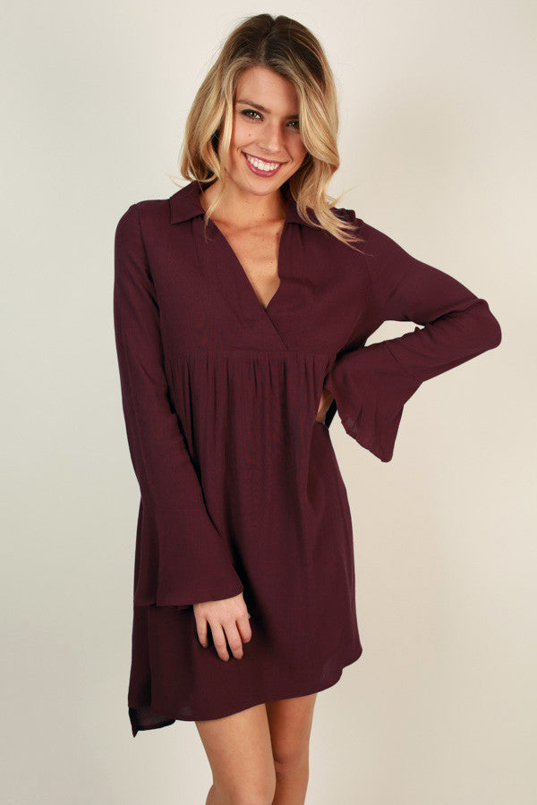 Love Always Babydoll Mini in Maroon