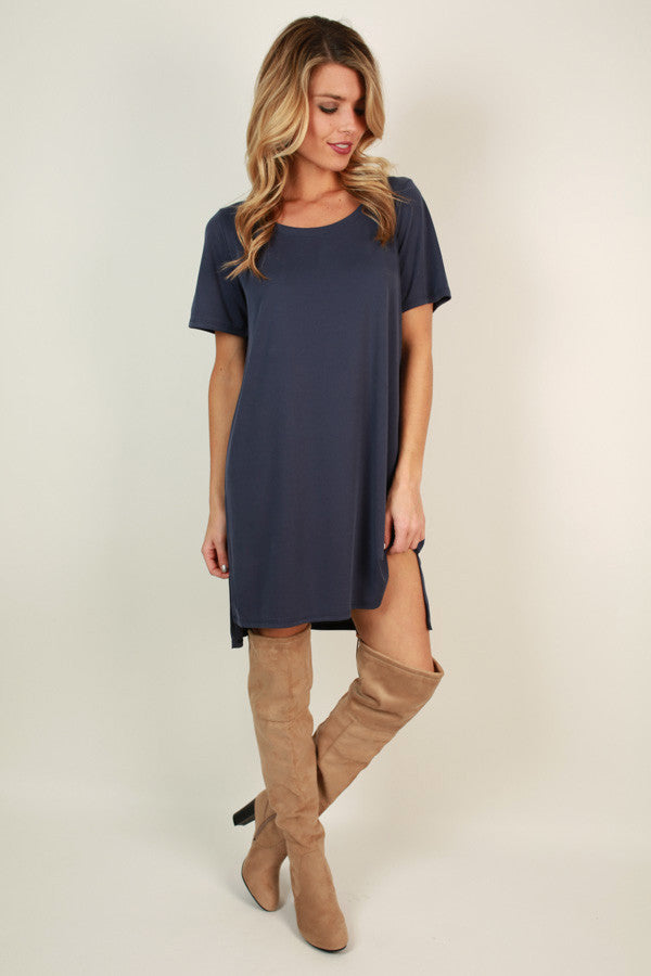 Favorite Everyday Tunic Dress in Navy