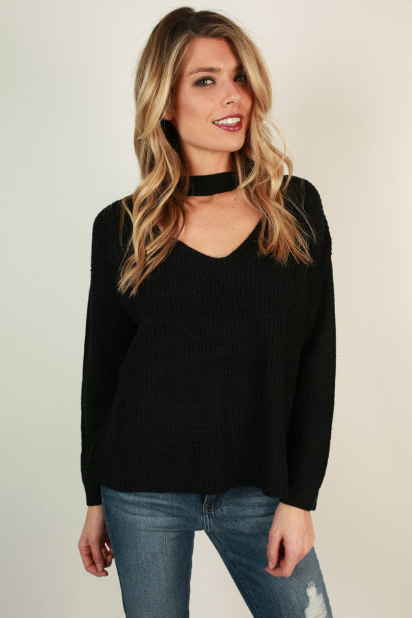 Livin' The Dream Sweater in Black