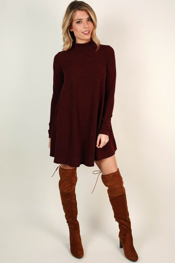 Cabernet All Day Sweater Dress