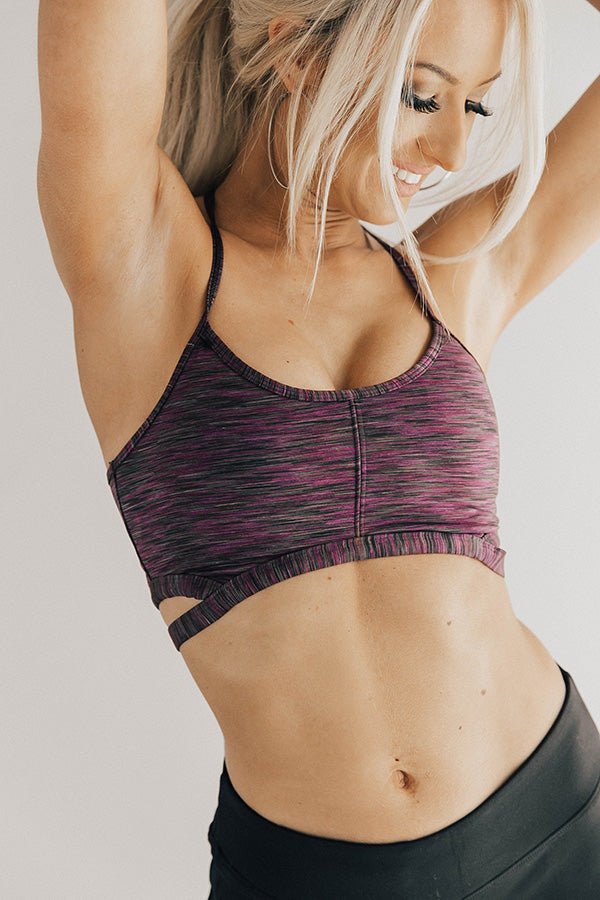 Get On My Level Sport Bra in Royal Lilac