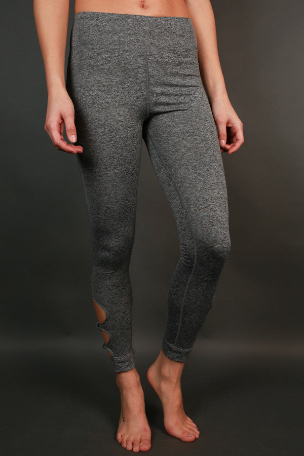 Raise The Bar Cut Out High Waist Legging in Dark Grey