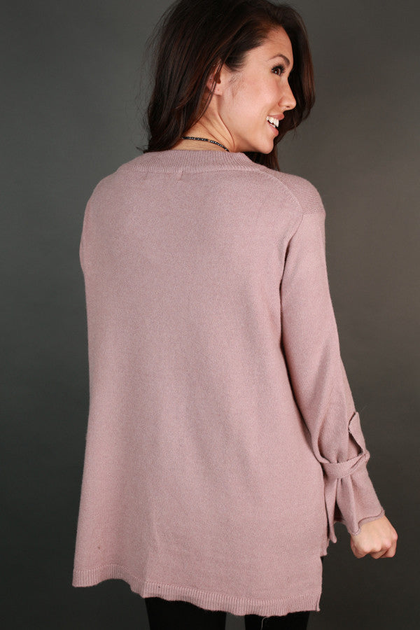 Ever So Lovely Sweater In Dusty Purple