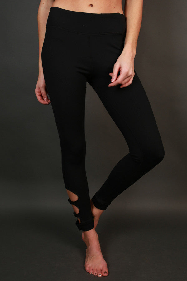 Raise The Bar Cut Out High Waist Legging in Black
