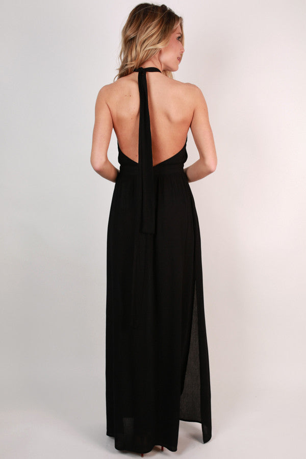 Dressed For Date Night Maxi in Black
