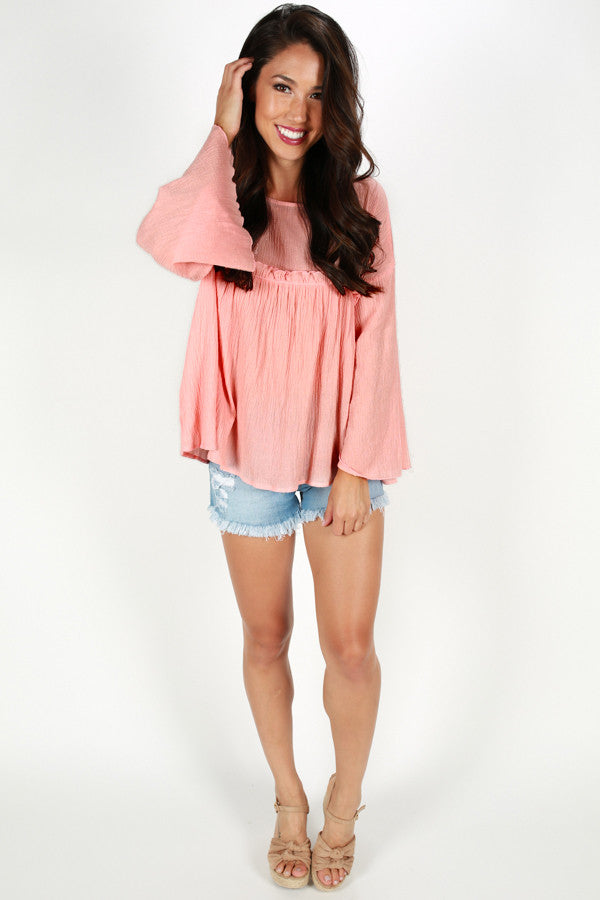 Dance With Me Darling Top in Peach