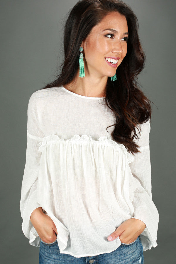 Dance With Me Darling Top in White