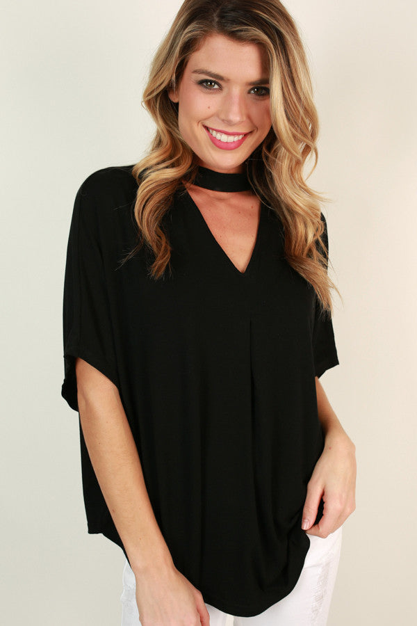 Turning Heads Cut Out Top in Black