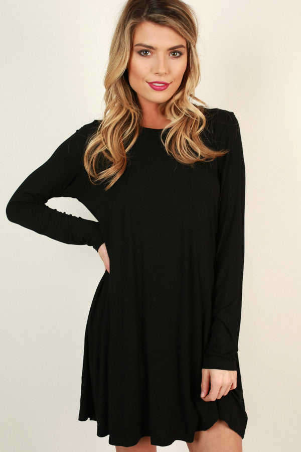 World Traveler Shift Dress in Black