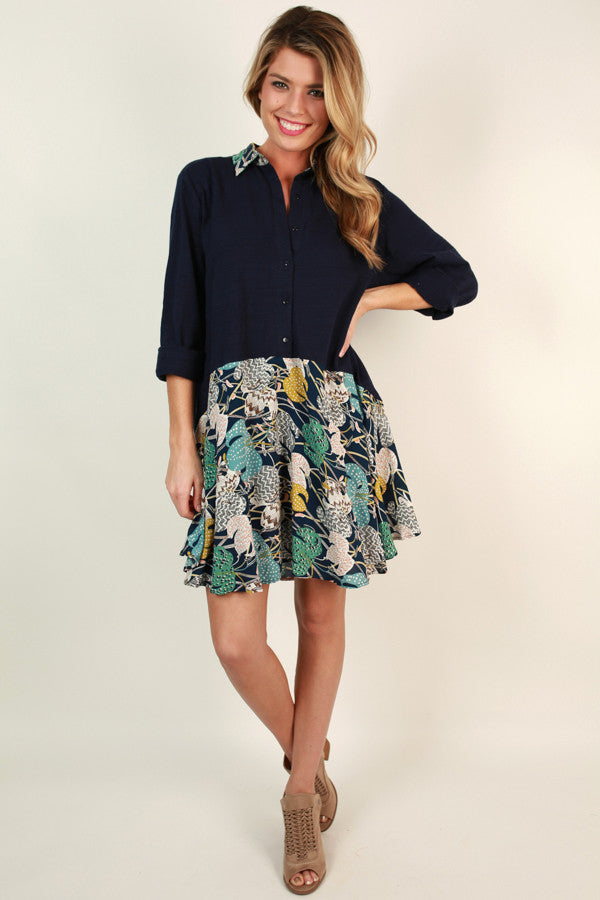 Day Date Darling Dress In Navy