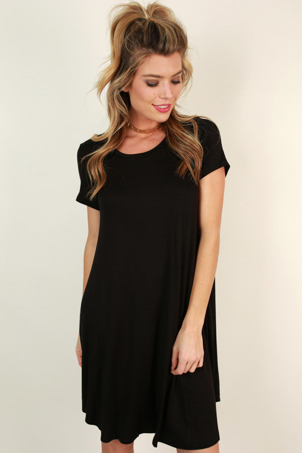 Back To Basics Shift Dress in Black