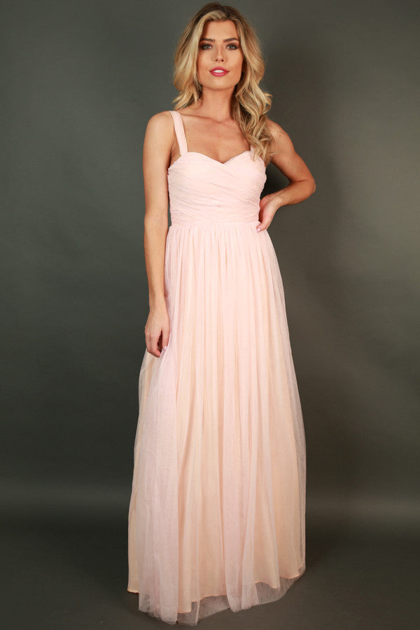 An Enchanted Evening Gown in Rose Quartz • Impressions Online Boutique