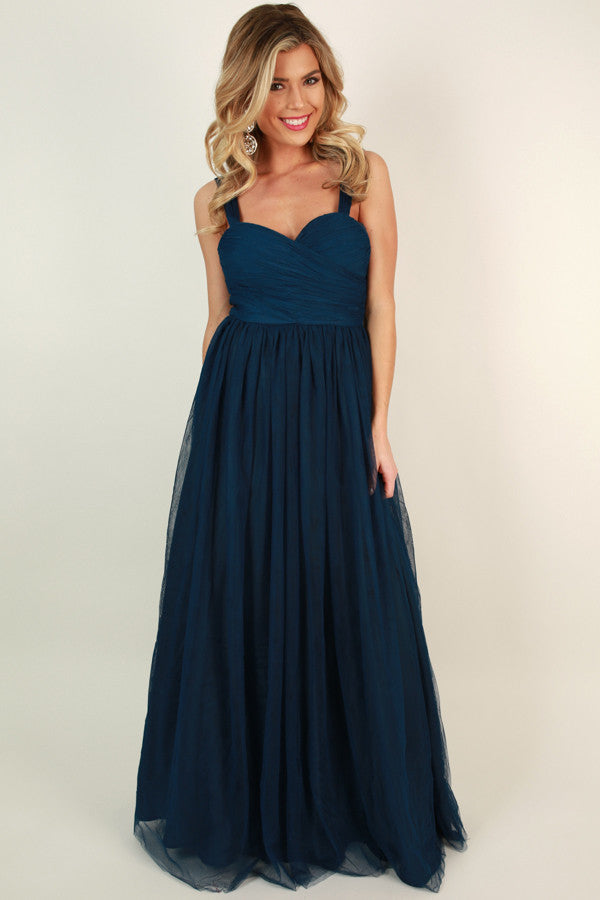 An Enchanted Evening Gown in Navy • Impressions Online Boutique
