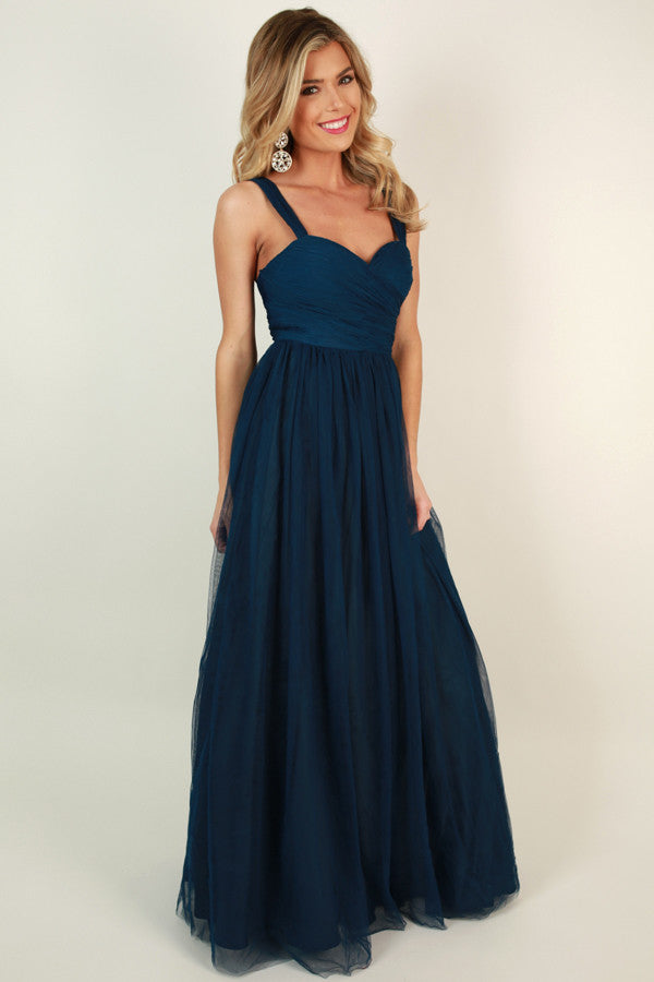 An Enchanted Evening Gown in Navy