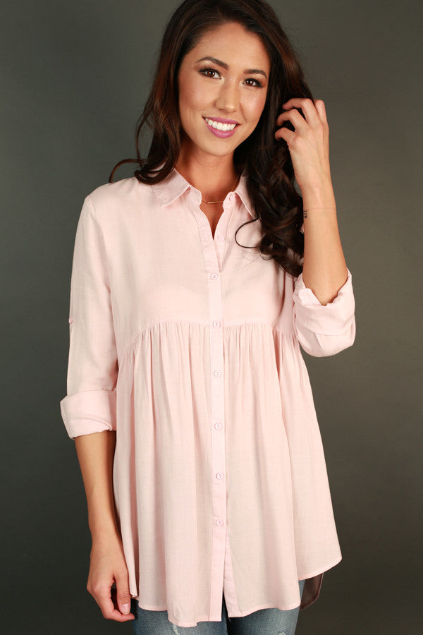 Backstage Beauty Babydoll Tunic in Pink