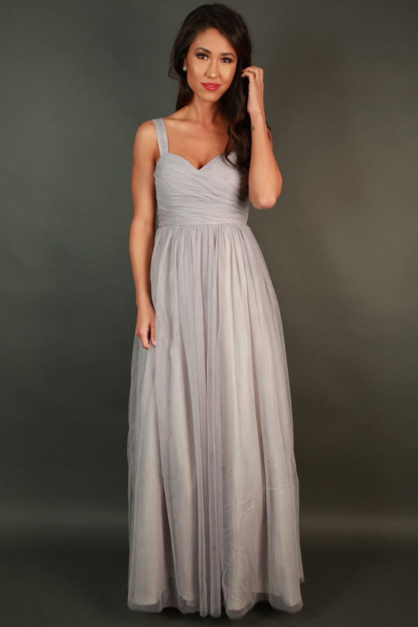 An Enchanted Evening Gown in Grey • Impressions Online Boutique