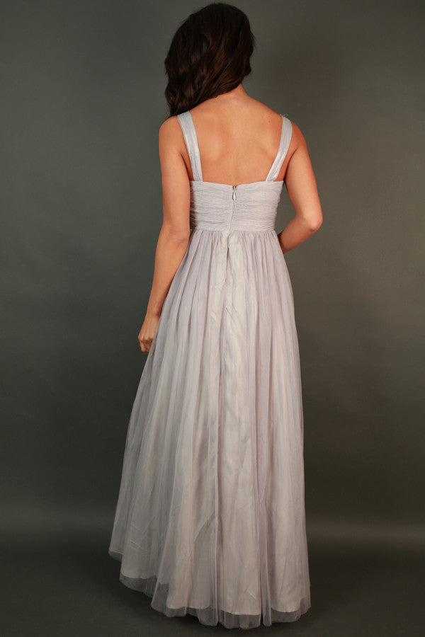 An Enchanted Evening Gown in Grey