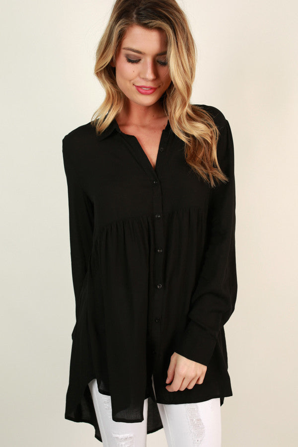 Backstage Beauty Babydoll Tunic in Black