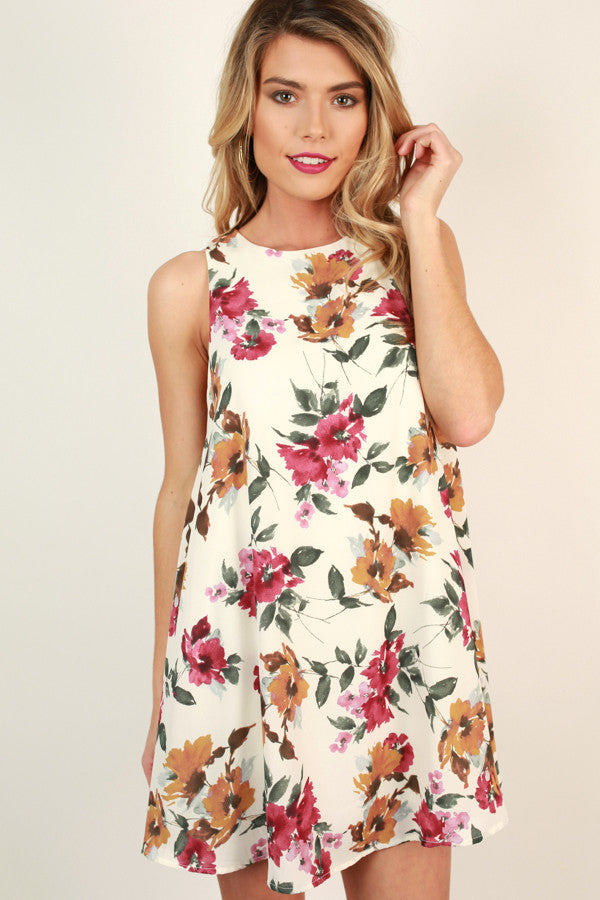 Enchanted Garden Shift Dress