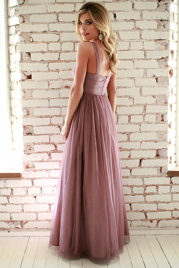 An Enchanted Evening Gown in Dusty Purple
