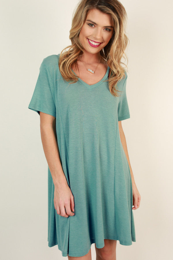 Perfect Fit Shift Dress in Ocean Wave