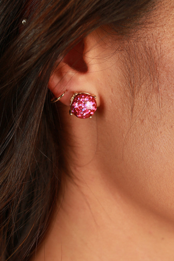 Baby Be Good To Me Earrings in Fuchsia