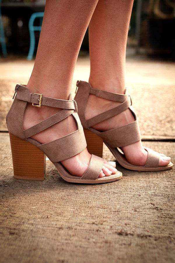 Uptown Heel in Taupe