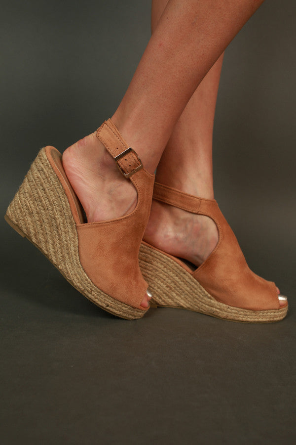 Full Of Sass Wedge in Tan