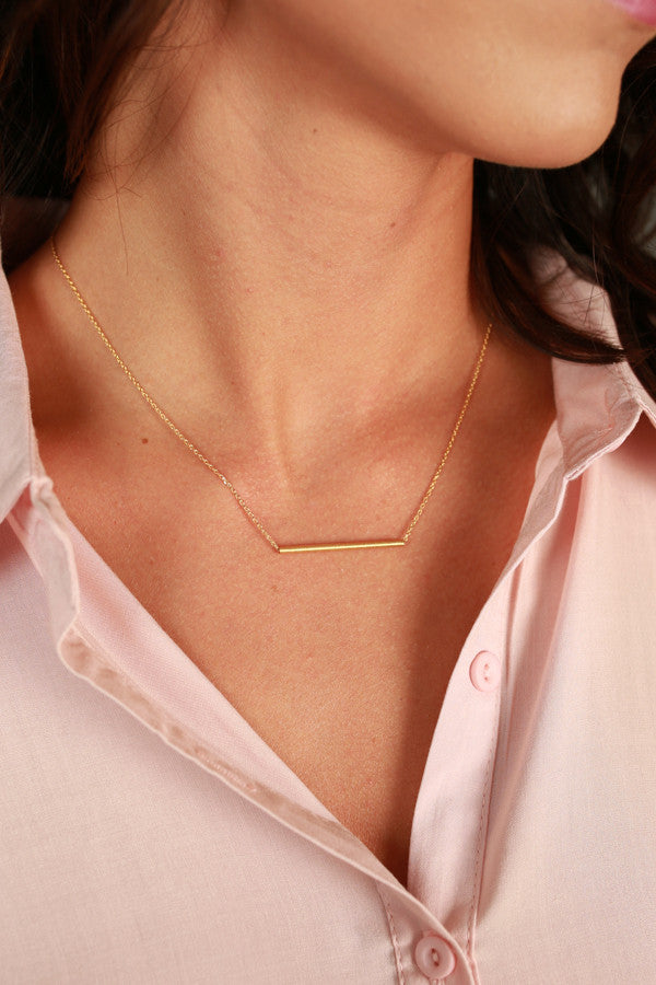 Bold And The Beautiful Bar Necklace In Gold