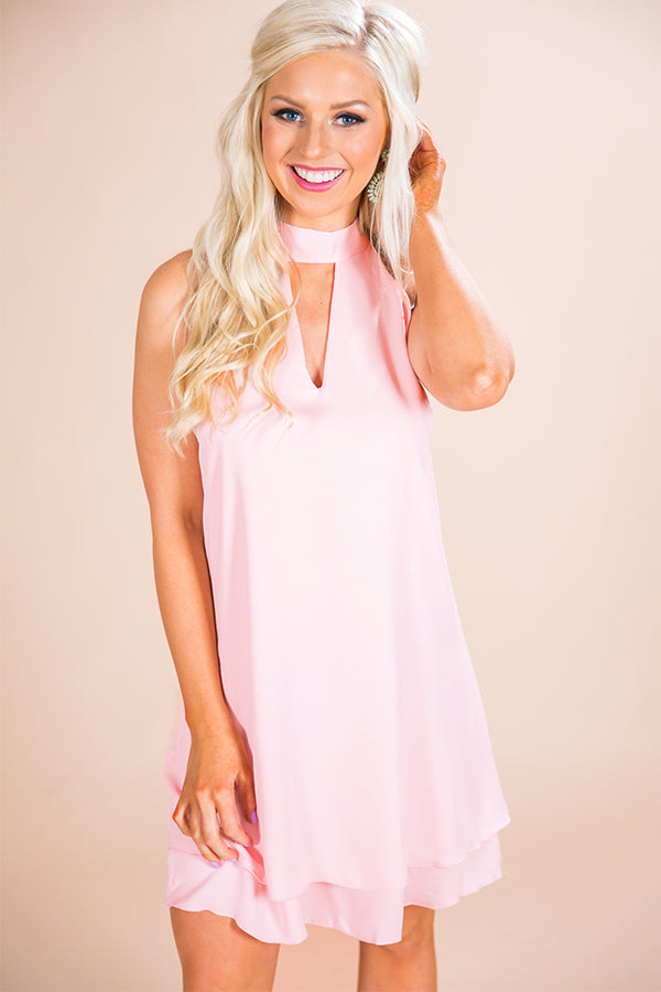 Time To Shine Shift Dress in Pink