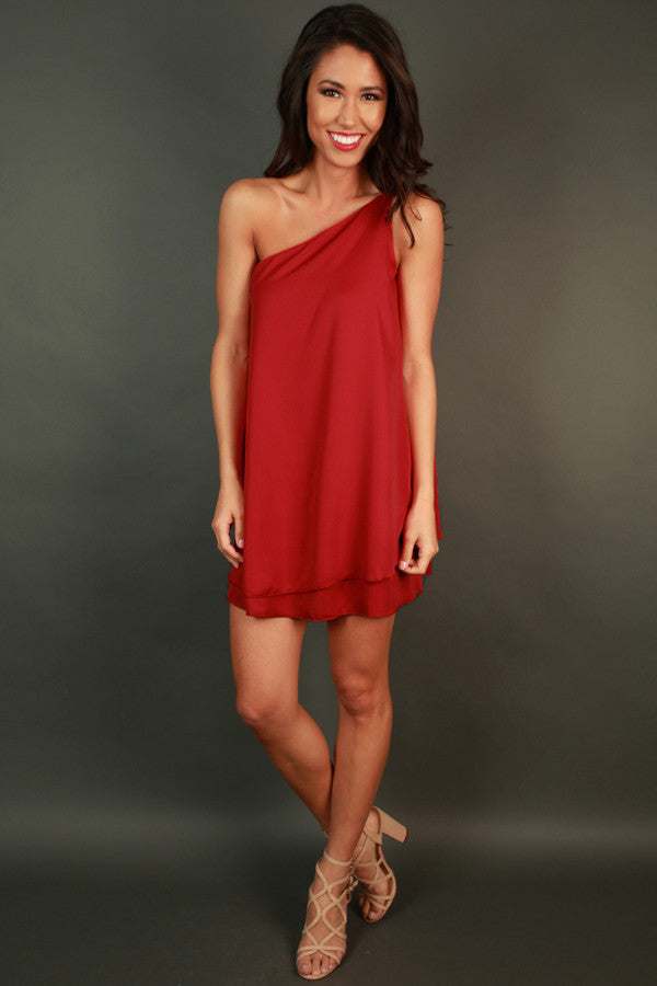 Move With Me Tunic Dress in Red