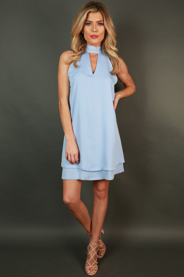 Time To Shine Shift Dress in Serenity