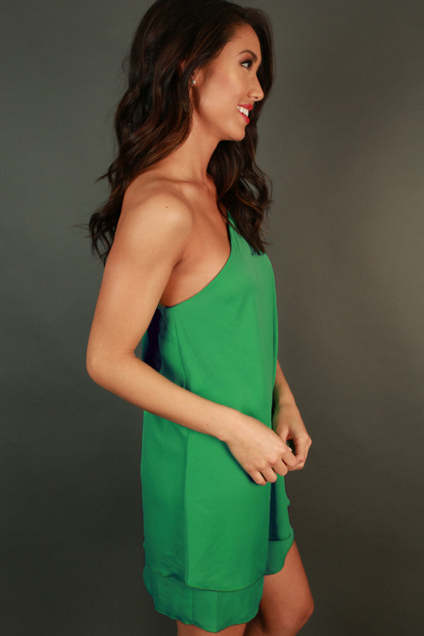 Move With Me Tunic Dress in Emerald