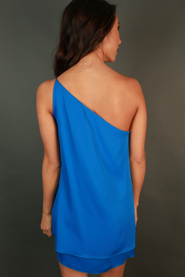 Move With Me Tunic Dress in Cobalt Blue