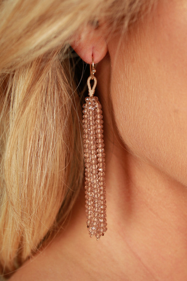 Call It Bliss Earrings In Warm Taupe