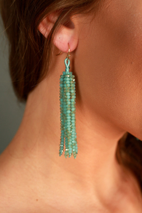Call It Bliss Earrings In Ocean Wave