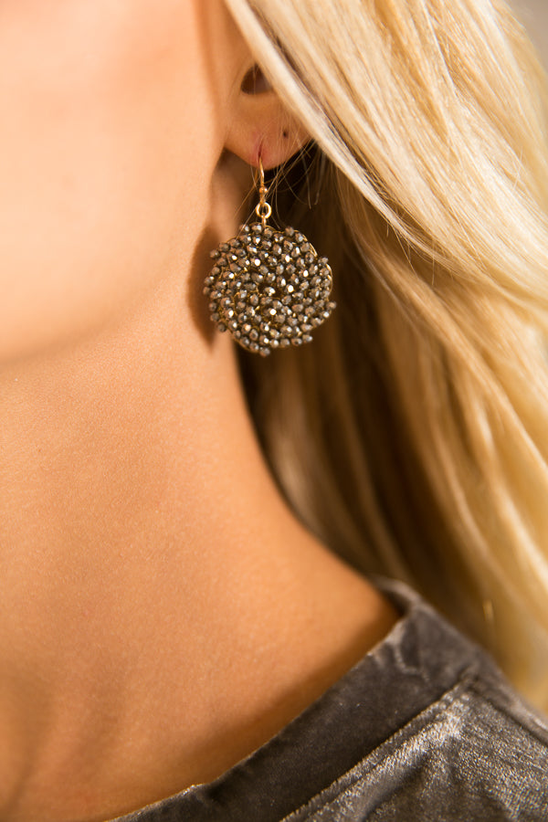Devoted Love Earrings In Slate