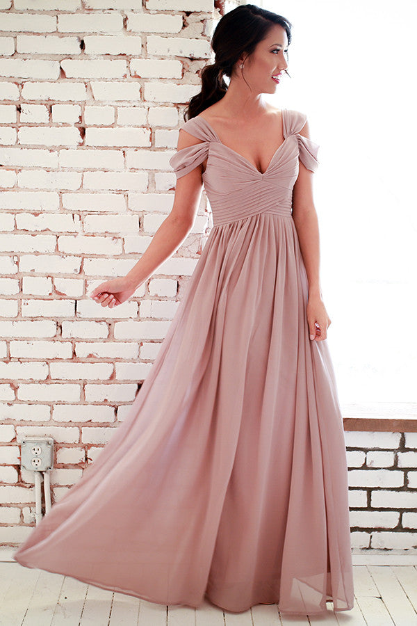 418340b3d1c35 Napa Valley Outing Maxi Dress in Light Hazelnut • Impressions Online  Boutique