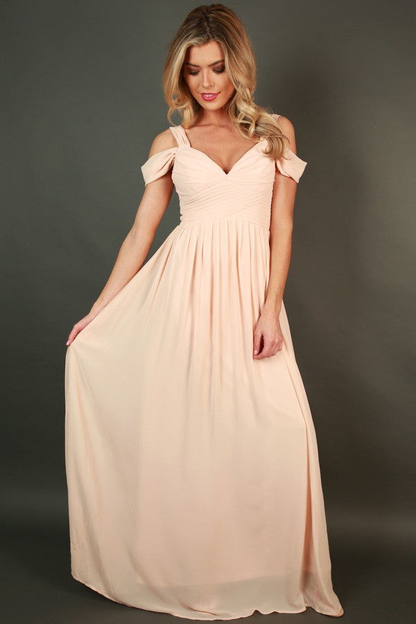 4651b1249a2f3 Napa Valley Outing Maxi Dress in Champagne • Impressions Online Boutique