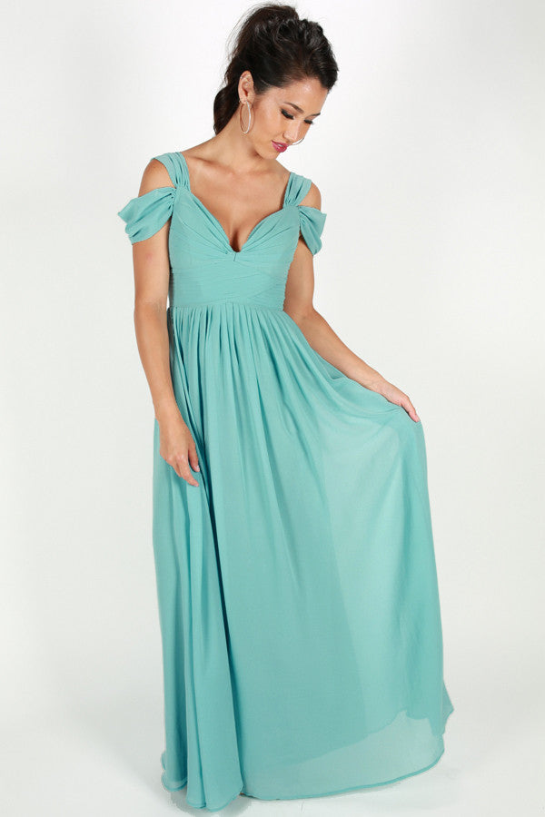 Napa Valley Outing Maxi Dress in Sky Blue